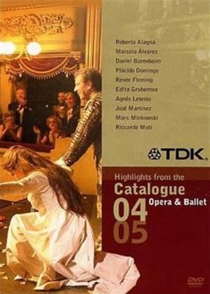 Opera and Ballet Sampler: 2004 and 2005 Catalogue Highlights Online DVD Rental