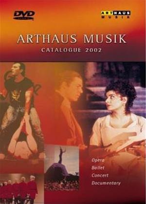 Rent Arthaus Music DVD Sampler Online DVD Rental