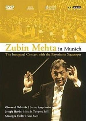 Rent Zubin Mehta in Munich: The Inaugural Concert with The Bayerisc Online DVD Rental