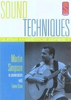 Rent Sound Techniques: Guitar Maestros Series 1: Martin Simpson Online DVD Rental