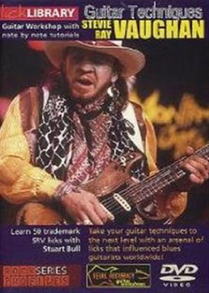 Rent Lick Library: Stevie Ray Vaughan Guitar Techniques Online DVD Rental