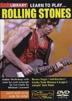 Rent Lick Library: Learn to Play the Rolling Stones Online DVD Rental