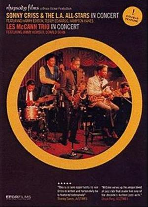 Sonny Criss and the LA All Stars Concert / Les McCann Trio in Concert Online DVD Rental