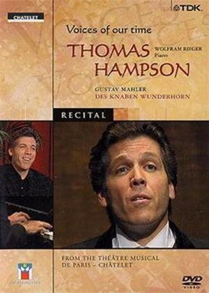 Rent Thomas Hampson: Voices of Our Time Online DVD Rental