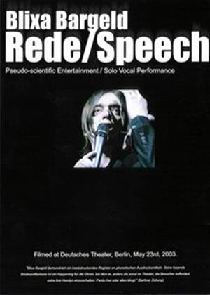 Rent Blixa Bargeld: Rede/Speech Online DVD Rental