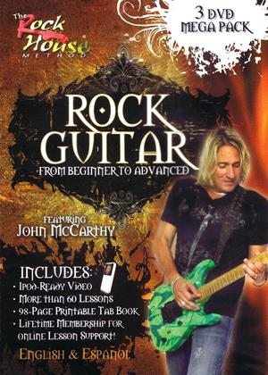 Rent Rock Guitar Mega Pack: From Beginner to Advanced by John McCarthy Online DVD Rental