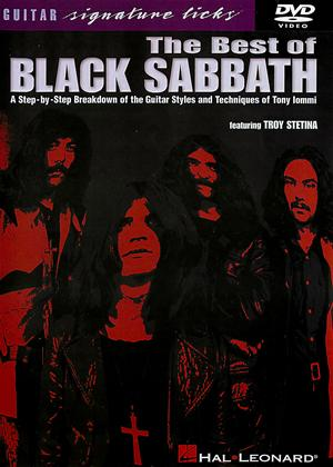 Rent The Best of Black Sabbath: Guitar Signature Licks Online DVD Rental