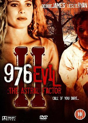 Rent 976 Evil II: The Astral Factor Online DVD Rental