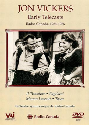 Rent Jon Vickers: Early Telecasts from Radio Canada Online DVD Rental