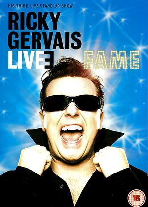 Ricky Gervais: Fame: Live Online DVD Rental