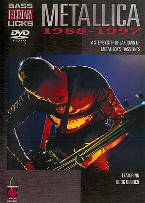 Rent Legendary Bass Licks: Metallica 1988-97 Online DVD Rental