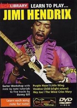 Rent Lick Library: Learn to Play Jimi Hendrix Online DVD Rental