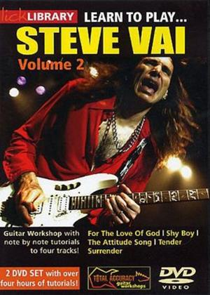 Rent Lick Library: Learn to Play Steve Vai: Vol.2 Online DVD Rental