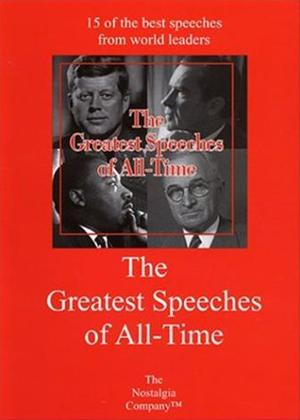 Rent The Greatest Speeches of All-Time: Vol.1 Online DVD Rental