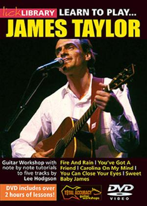 Rent Lick Library: Learn to Play James Taylor Online DVD Rental