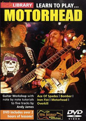 Rent Lick Library: Learn to Play Motorhead Online DVD Rental