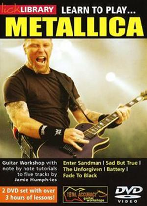 Rent Learn to Play: Metallica Online DVD Rental