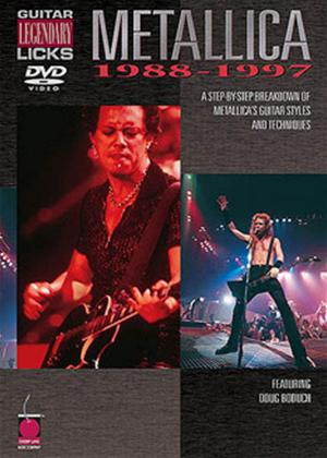 Rent Legendary Guitar Licks: Metallica 1988-97 Online DVD Rental
