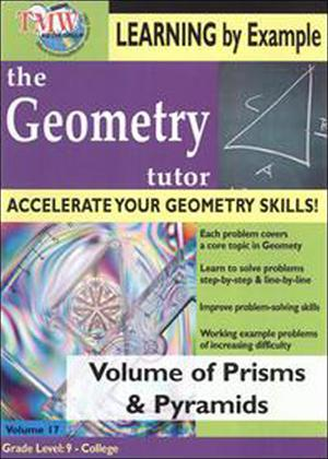 Rent The Geometry Tutor: Volume of Prisms and Pyramids Online DVD Rental