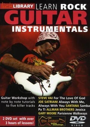 Rent Lick Library: Learn Rock Guitar Instrumentals Online DVD Rental