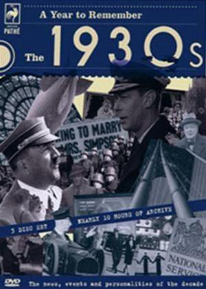 Rent A Year to Remember: The 1930s Online DVD Rental