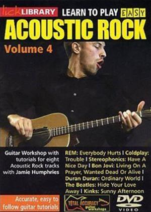 Rent Lick Library: Learn to Play Acoustic Rock: Vol.4 Online DVD Rental