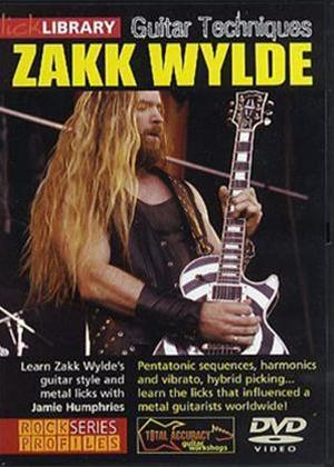Rent Lick Library: Guitar Techniques: Zakk Wylde Online DVD Rental