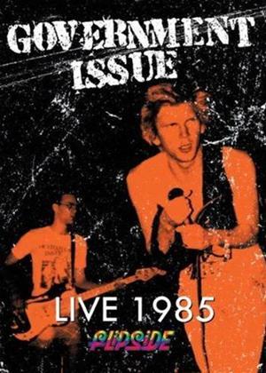 Rent Government Issue: Live 1985: Flipside Online DVD Rental