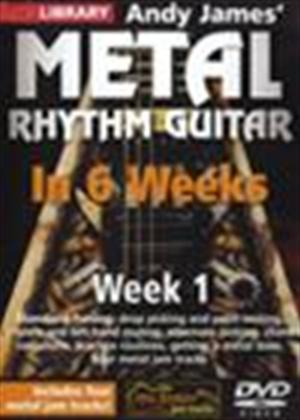 Rent Andy James' Metal Rhythm Guitar in 6 Weeks: Week 1 Online DVD Rental