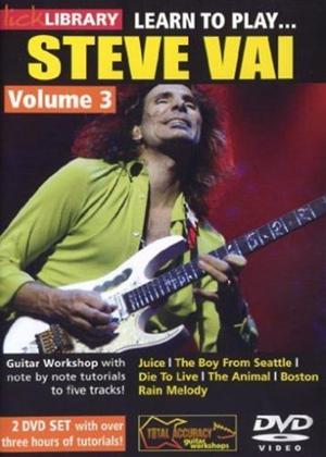 Rent Lick Library: Learn to Play Steve Vai: Vol.3 Online DVD Rental