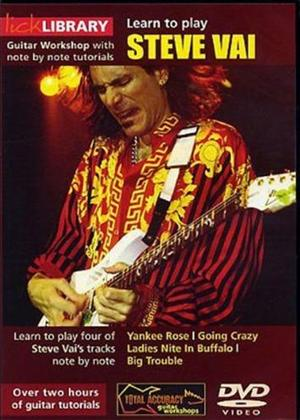 Rent Lick Library: Learn to Play Steve Vai: Vol.1 Online DVD Rental