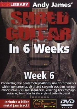Rent Andy James' Shred Guitar in 6 Weeks: Week 6 Online DVD Rental