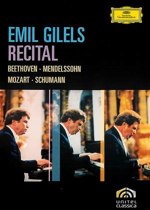 Rent Emil Gilels: Recital Online DVD Rental