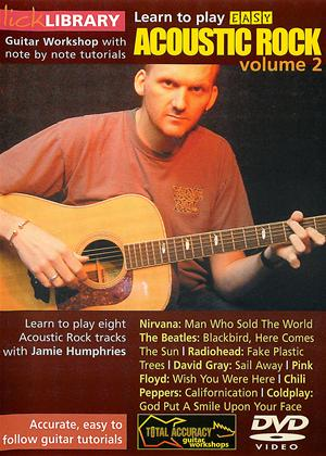 Rent Lick Library: Learn to Play Easy Acoustic Rock: Vol.2 Online DVD Rental