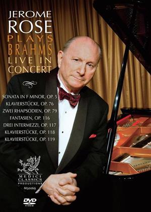 Rent Jerome Rose: Brahms Live in Concert Online DVD Rental