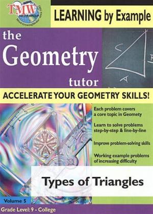 Rent The Geometry Tutor: Types of Triangles Online DVD Rental