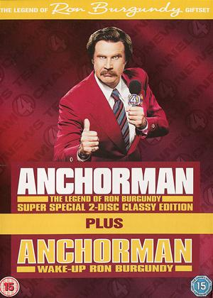 Rent Anchorman Special Edition and Wake Up Ron Burgundy Set Online DVD Rental