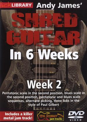 Rent Andy James' Shred Guitar in 6 Weeks: Week 2 Online DVD Rental