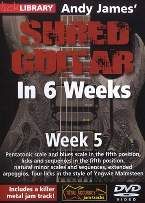 Rent Andy James' Shred Guitar in 6 Weeks: Week 5 Online DVD Rental