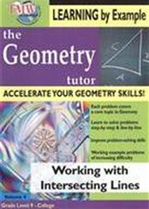Rent The Geometry Tutor: Working with Intersecting Lines Online DVD Rental