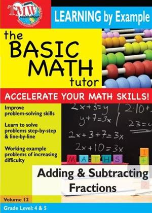Rent The Basic Math Tutor: Adding and Subtracting Fractions Online DVD Rental