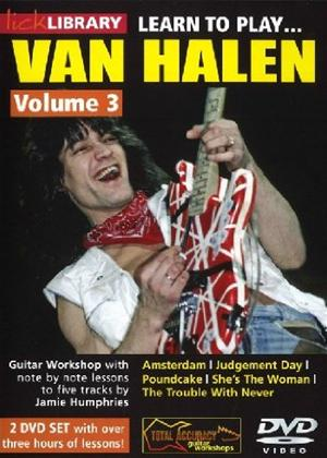 Rent Lick Library: Learn to Play Van Halen: Vol.3 Online DVD Rental