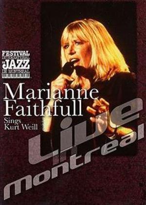 Rent Marianne Faithful Sings Kurt Weill: Live in Montreal Online DVD Rental