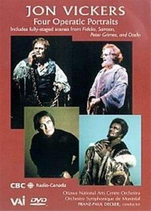 Rent Jon Vickers: Four Operatic Portraits Online DVD Rental