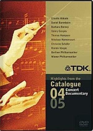 Rent TDK DVD Concert Sampler: 2004 and 2005 Catalogue Highlights Online DVD Rental