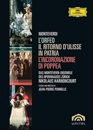 Rent Monteverdi: L'orfeo: L'Incoronazione di Poppea: Il Ritorno d'Ullise in Patria Online DVD Rental
