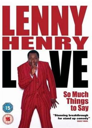 Rent Lenny Henry: So Much Things to Say: Live Online DVD Rental
