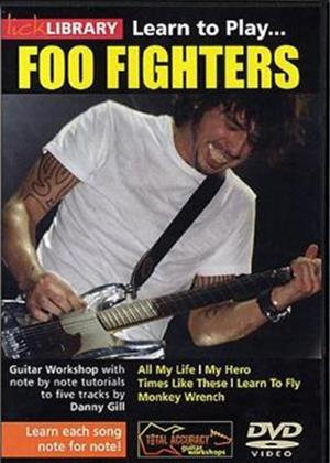 Lick Library: Learn to Play Foo Fighters Online DVD Rental