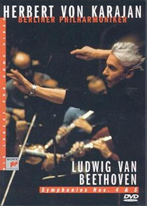 Rent Beethoven: Symphony No. 4 and 5: Herbert Von Karajan Online DVD Rental
