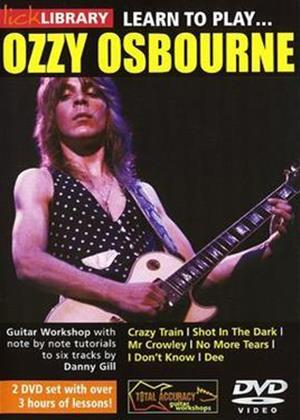 Rent Lick Library: Learn to Play: Ozzy Osbourne Online DVD Rental